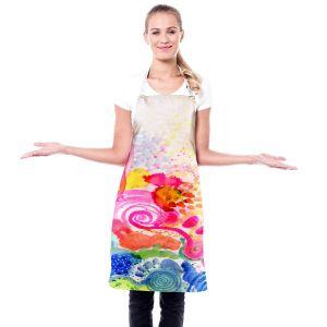 Artistic Bakers Aprons | Robin Mead - Vast Horizon | swirls pattern abstract splatter