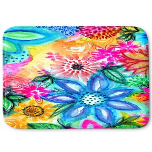 Decorative Bathroom Mats | Robin Mead - Vibrant | flower pattern simple abstract