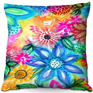 Throw Pillows Decorative Artistic | Robin Mead - Vibrant | flower pattern simple abstract