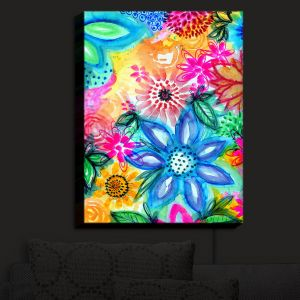 Nightlight Sconce Canvas Light | Robin Mead - Vibrant | flower pattern simple abstract