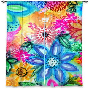 Decorative Window Treatments | Robin Mead - Vibrant | flower pattern simple abstract