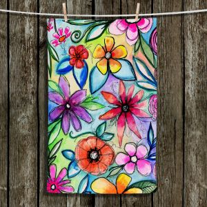 Unique Hanging Tea Towels | Robin Mead - Vivir 1 | flower pattern simple abstract