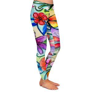 Casual Comfortable Leggings | Robin Mead - Vivir 1 | flower pattern simple abstract