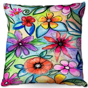 Throw Pillows Decorative Artistic | Robin Mead - Vivir 1 | flower pattern simple abstract