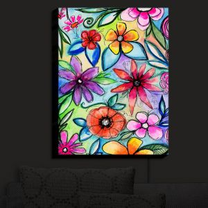 Nightlight Sconce Canvas Light | Robin Mead - Vivir 1 | flower pattern simple abstract