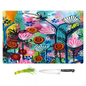 Artistic Kitchen Bar Cutting Boards | Robin Mead - Wild Things | flower pattern abstract