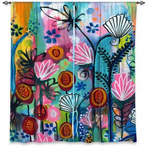 Decorative Window Treatments | Robin Mead - Wild Things | flower pattern abstract