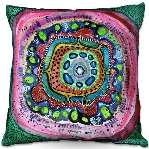 Decorative Outdoor Patio Pillow Cushion   Robin Mead - Wisdom   Geometric Pattern