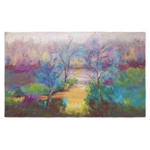 Artistic Pashmina Scarf | Ruth Palmer - And God Saw That It Was Good | Trees Abstract