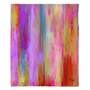 Decorative Fleece Throw Blankets | Ruth Palmer - Banding Together | Abstract stripes pattern brushstrokes