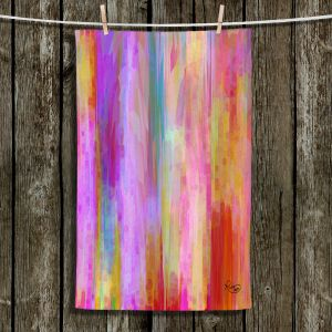 Unique Hanging Tea Towels | Ruth Palmer - Banding Together | Abstract stripes pattern brushstrokes