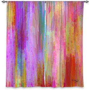 Decorative Window Treatments | Ruth Palmer - Banding Together | Abstract stripes pattern brushstrokes