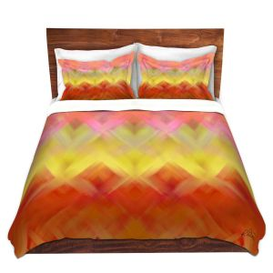 Artistic Duvet Covers and Shams Bedding | Ruth Palmer - Basket Weave | Pattern cross