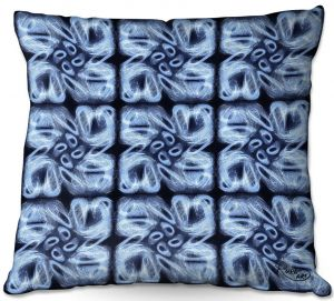 Throw Pillows Decorative Artistic | Ruth Palmer - Blue Brush | Pattern repetition tile floral
