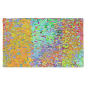Artistic Pashmina Scarf | Ruth Palmer - Brightly Tiles Shapes | Mosaic square