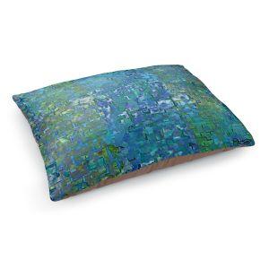 Decorative Dog Pet Beds | Ruth Palmer - Calming Blues | Abstract pattern mosaic