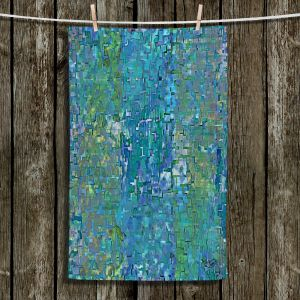 Unique Bathroom Towels | Ruth Palmer - Calming Blues | Abstract pattern mosaic