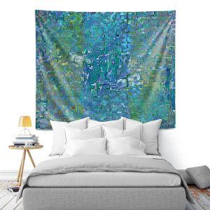 Artistic Wall Tapestry | Ruth Palmer - Calming Blues | Abstract pattern mosaic