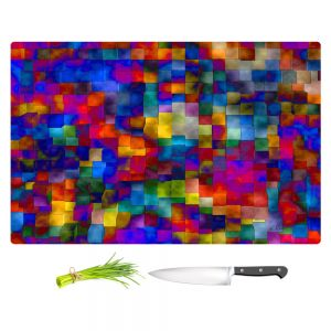 Artistic Kitchen Bar Cutting Boards | Ruth Palmer - Cloudy Cubes