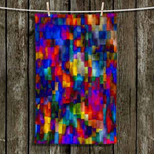 Unique Hanging Tea Towels | Ruth Palmer - Cloudy Cubes | Abstract Cubes Colorful