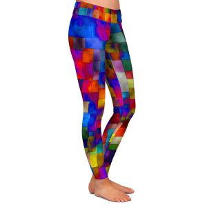 Casual Comfortable Leggings | Ruth Palmer Cloudy Cubes