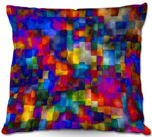 Decorative Outdoor Patio Pillow Cushion | Ruth Palmer - Cloudy Cubes