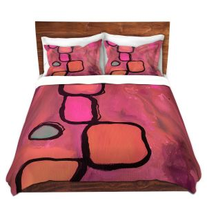 Artistic Duvet Covers and Shams Bedding | Ruth Palmer - Coral Cobbles | Abstract Pattern