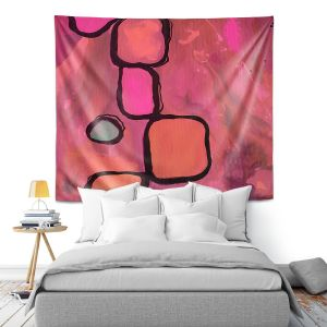 Artistic Wall Tapestry | Ruth Palmer - Coral Cobbles | Abstract Pattern
