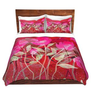 Artistic Duvet Covers and Shams Bedding | Ruth Palmer - Crowded Spot | Flowers Landscape