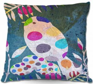 Throw Pillows Decorative Artistic | Ruth Palmer Cute Bird With Eggs Layered Collage