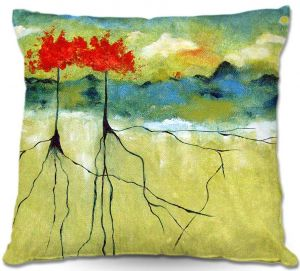 Unique Outdoor Pillows from DiaNoche Designs by Ruth Palmer - Deep Roots
