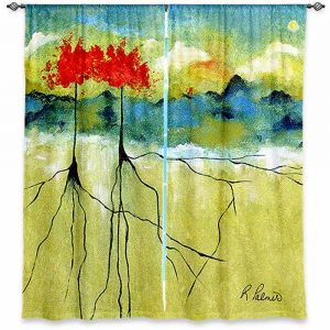 Unique Window Curtain Unlined 40w x 61h from DiaNoche Designs by Ruth Palmer - Deep Roots