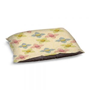 Decorative Dog Pet Beds | Ruth Palmer - Delicate Pixel Flowers | Flowers Pattern