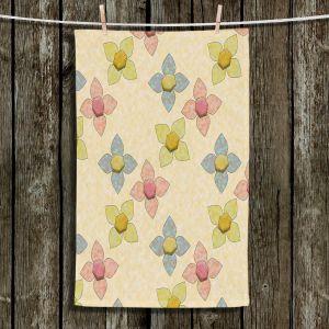 Unique Bathroom Towels | Ruth Palmer - Delicate Pixel Flowers | Flowers Pattern