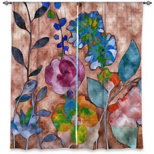 Decorative Window Treatments | Ruth Palmer - Fabric Feel Floral | Nature plant graphic close up abstract illustration flower leaves