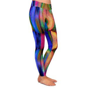 Casual Comfortable Leggings | Ruth Palmer - Folded II | Stripes pattern repetition abstract