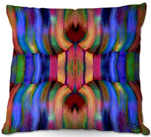Decorative Outdoor Patio Pillow Cushion | Ruth Palmer - Folded II | Stripes pattern repetition abstract
