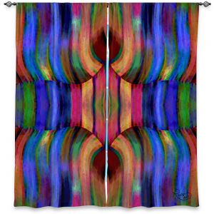 Decorative Window Treatments | Ruth Palmer - Folded II | Stripes pattern repetition abstract