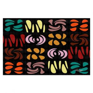 Decorative Floor Covering Mats | Ruth Palmer - Fun Dark Colors | Shapes pattern repetition