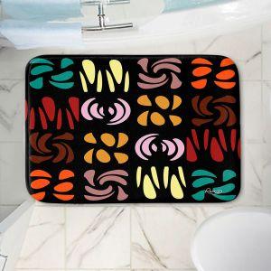 Decorative Bathroom Mats | Ruth Palmer - Fun Dark Colors | Shapes pattern repetition