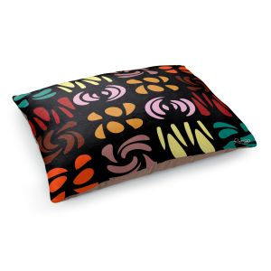 Decorative Dog Pet Beds | Ruth Palmer - Fun Dark Colors | Shapes pattern repetition