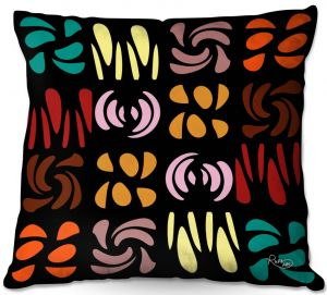 Throw Pillows Decorative Artistic | Ruth Palmer - Fun Dark Colors | Shapes pattern repetition