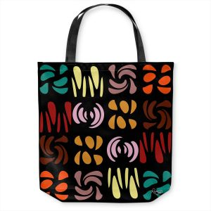 Unique Shoulder Bag Tote Bags | Ruth Palmer - Fun Dark Colors | Shapes pattern repetition