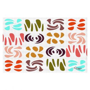 Decorative Floor Covering Mats | Ruth Palmer - Fun Light Colors | Shapes pattern repetition