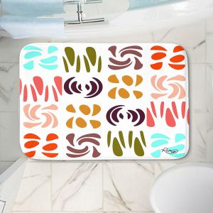 Decorative Bathroom Mats | Ruth Palmer - Fun Light Colors | Shapes pattern repetition
