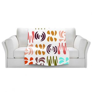 Artistic Sherpa Pile Blankets | Ruth Palmer - Fun Light Colors | Shapes pattern repetition