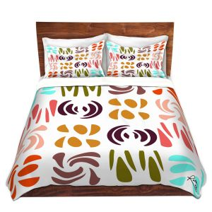 Artistic Duvet Covers and Shams Bedding | Ruth Palmer - Fun Light Colors | Shapes pattern repetition