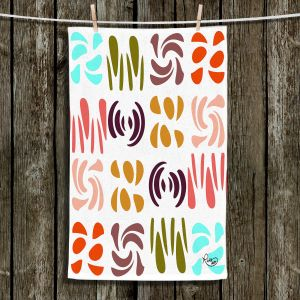 Unique Hanging Tea Towels   Ruth Palmer - Fun Light Colors   Shapes pattern repetition