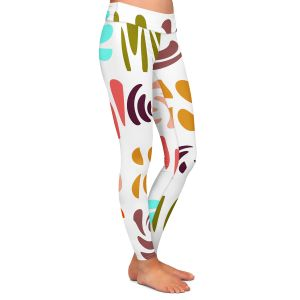 Casual Comfortable Leggings | Ruth Palmer - Fun Light Colors | Shapes pattern repetition