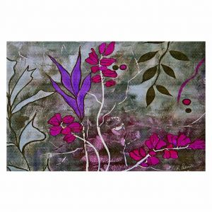 Decorative Area Rug 2 x 3 Ft from DiaNoche Designs by Ruth Palmer - Fuschia Nights
